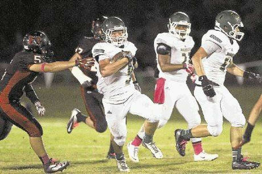 The Woodlands Christian Academy's Luke Hudson has rushed for 1,433 yards and 25 touchdowns this season.