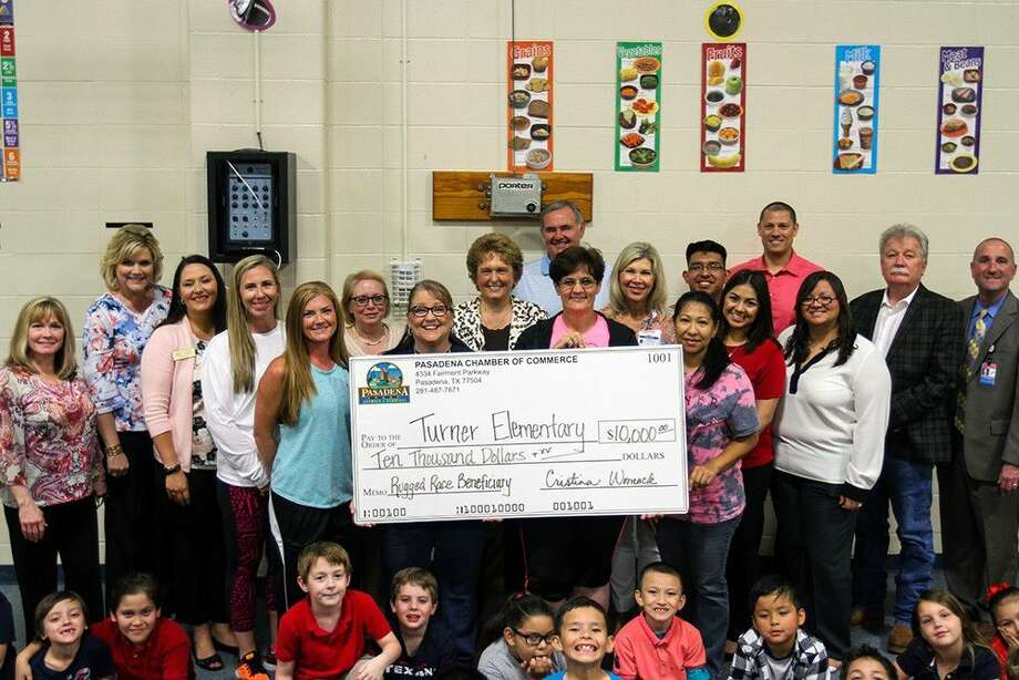 On Friday, May 27, Chamber staff, interns, volunteers, Rugged Race sponsors and members of the Board of Trustees for PISD headed to Turner Elementary for a very special visit. PE teacher Jacqueline Caver was one of the educators who submitted an application to be awarded the $10,000.
