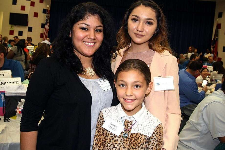 Three generations of pen pals came together at Richey. Pictured from left to right: Monique Martinez, Briana Garcia and Destiny Azanza.