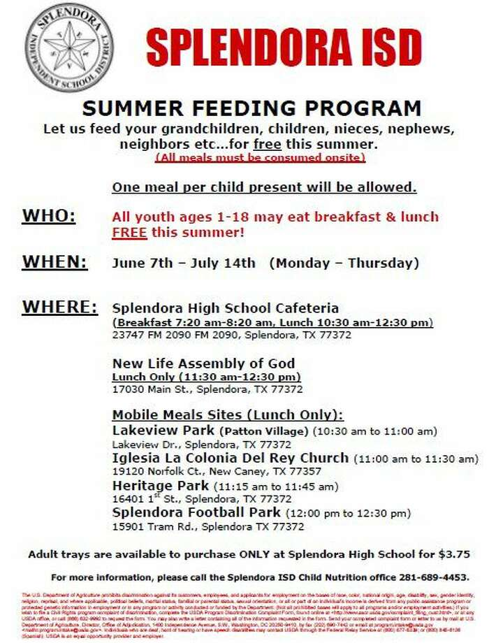The Splendora ISD Summer Feeding Program has been around for over a decade and has introduced a new mobile bus to provide meals to even more children this summer.