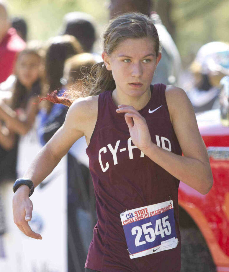 Cy0Fair's Rebecca Bonta competes in the UIL State Cross Country Championships in Round Rock Saturday. To view or purchase this photo and others like it, visit HCNpics.com. Photo: Jason Fochtman