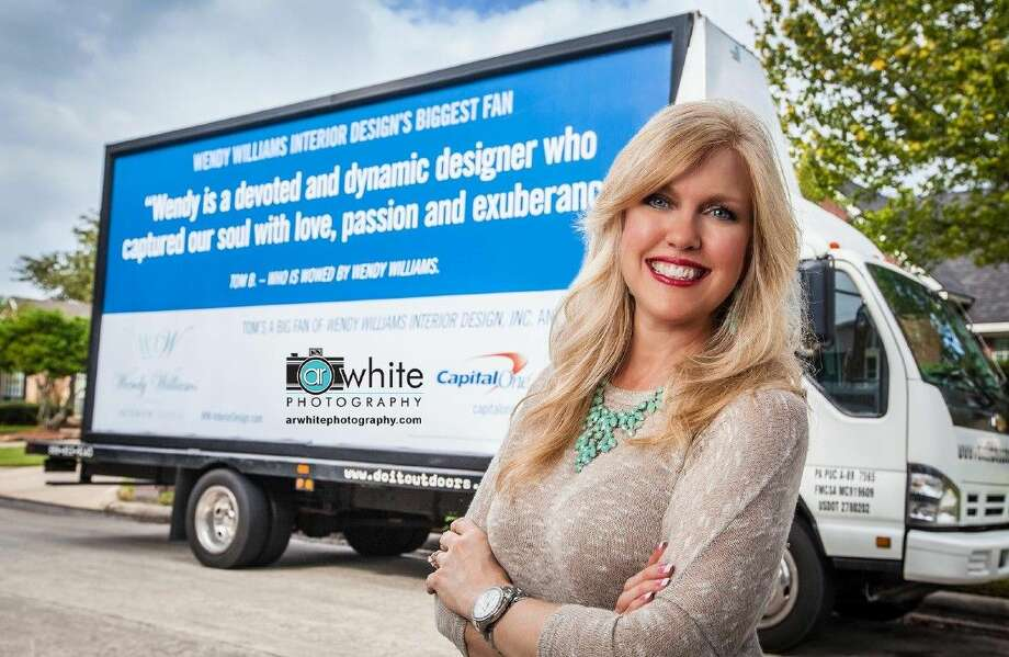 Wendy Williams was one of the winners of a Capital One Spark Business contest. For the next few months, her business, Wendy Williams Interior Design, will be featured on the side of an ad van that drives a route in and around the Houston area.