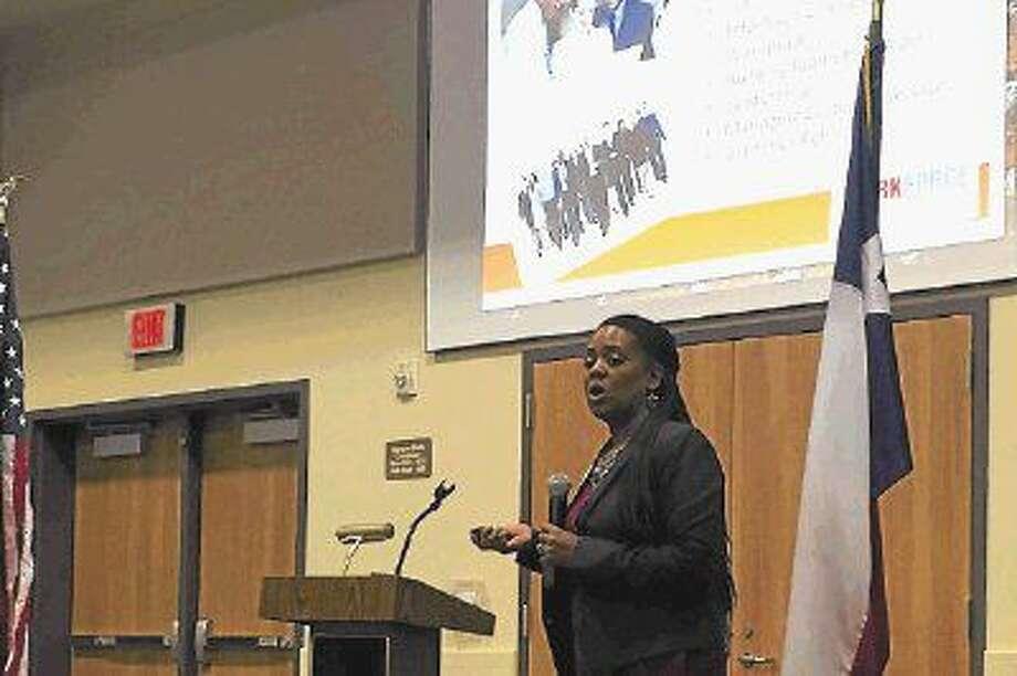 Kimberlee Whittington, director of Community Education at Lee College, was speaker at the Dayton Chamber of Commerce luncheon on June 7. Photo: Casey Stinnett