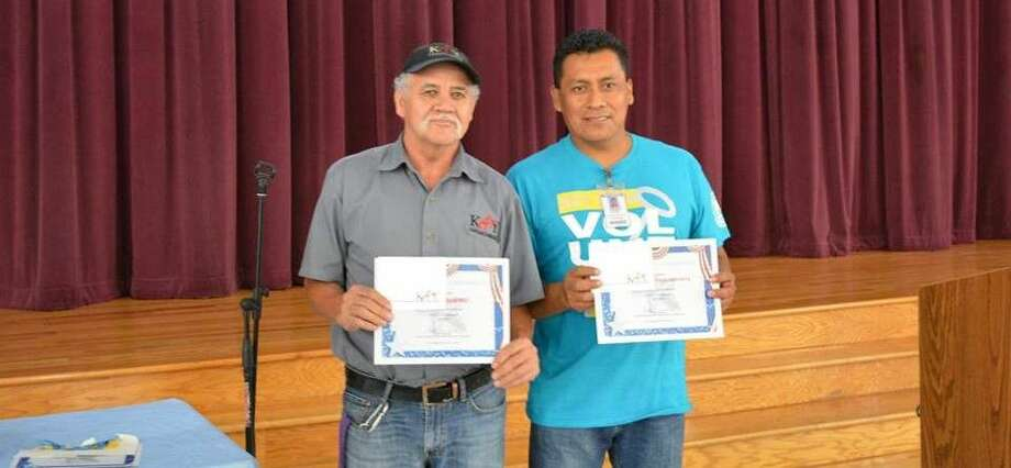 Katy ISD Maintenance and Operations workers receive awards during their annual celebration June 8.