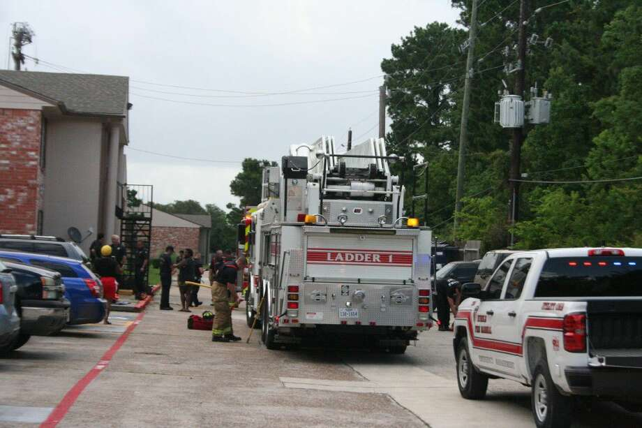 The Humble Fire Department responded to a kitchen fire at the Colony of Humble apartments today.