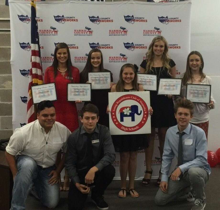 The Young Republicans of Magnolia High Schools were recently honored while attending the High School Republicans of Texas State Convention. Photo: Submitted