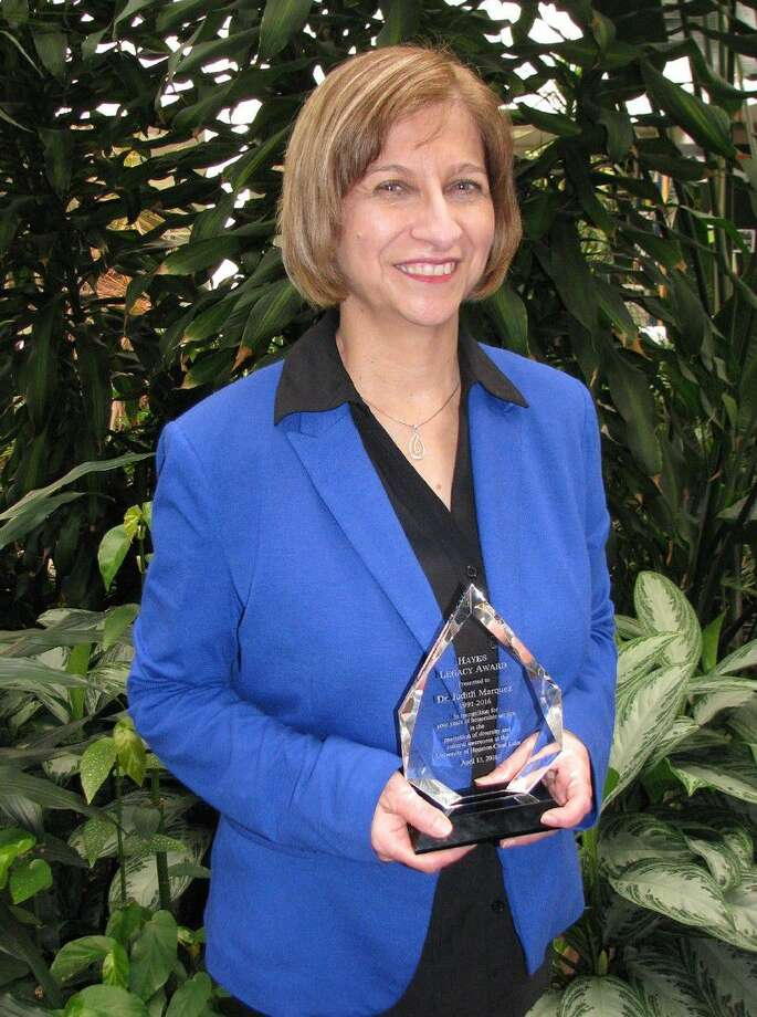 University of Houston-Clear Lake School of Education Professor of Bilingual and Multicultural Education and Department Chair of Counseling, Special Education and Diversity Judith Márquez of Friendswood was named the 2016 recipient of the university's prestigious Hayes Diversity Award. Márquez was recognized for her exceptional leadership and commitment towards supporting and promoting diversity during her 26-year career at UHCL. Her achievements include co-authoring nearly 7 million in grants to provide scholarships to graduate and undergraduate students seeking to become bilingual and English as a second language teachers, bilingual counselors, bilingual administrators and librarians, as well as becoming strong advocates for English language learners. She has been active in multiple groups, organizations, task forces and initiatives focused on serving and advancing minority and underserved populations. Márquez has also worked diligently to help develop high standards statewide so that Texas educators can effectively teach and support English language learners.