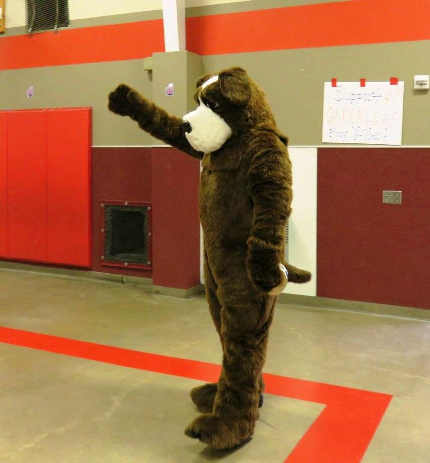 McGruff the Crime Dog made the rounds at the Splendora ISD elementary campuses during Red Ribbon Week. He visited students at Greenleaf Elementary on Oct. 27. Photo: Stephanie Buckner
