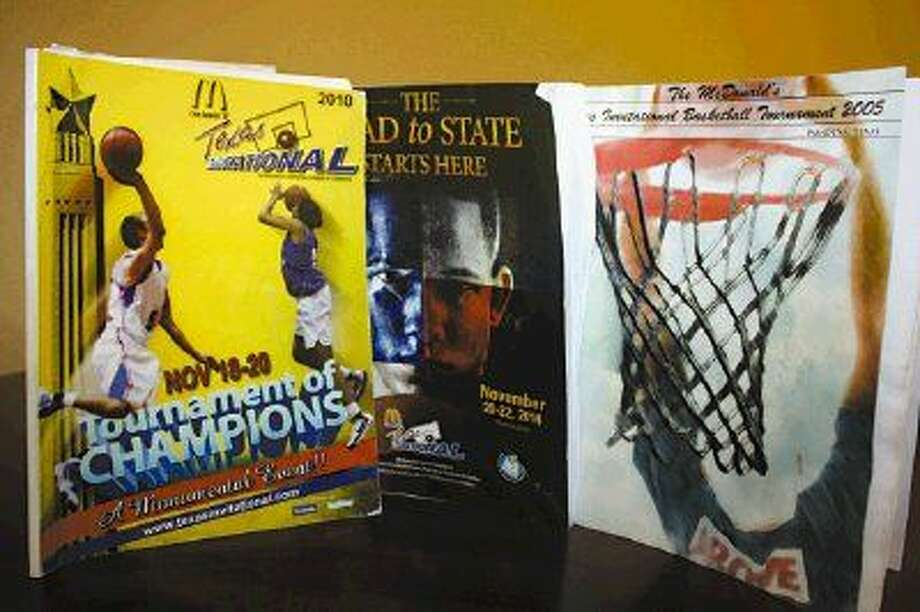 McDonald's Texas Invitational programs from 2010, 2014 and 2005 are shown. Fans will be anxious to get their hands on this year's program which will feature the lineups to some of the top high school programs across the state. Based on the past, it'll be a sneak peek to a future state champion.