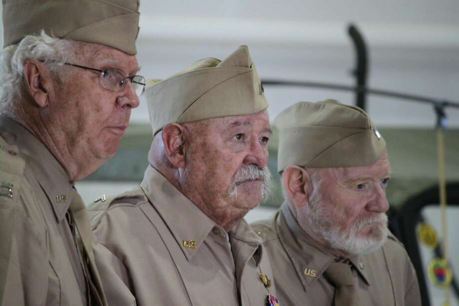 """James MacKrell, left, stars with Richard Riehle and William Morgan Sheppard in """"Last Man Club"""", a film about a group of World War II veterans and the pact they made."""