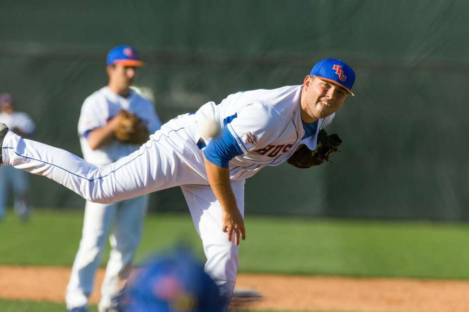 Houston Baptist University pitcher Dylan Alvarez (Cy Ridge) joined teammate Andrew Alvarez on the 2016 All-Southland Conference Academic Team. Photo: HBU Athletics Media Relations
