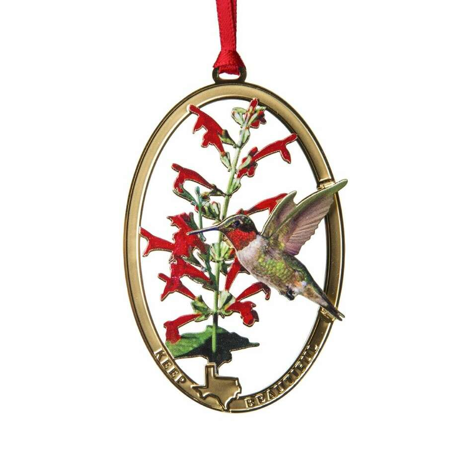 The Keep Texas Beautiful ornament collection is an ideal gift for family, friends or anyone who loves the great state of Texas. The 2014 11th edition ornament features the Ruby-throated Hummingbird. Purchasers not only showcase their Texas pride, but are actively giving back to the environment as well. Photo: Submitted