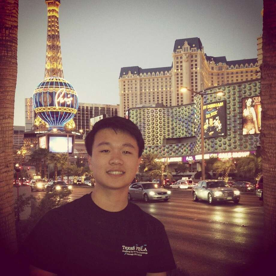 Cypress Ranch High School senior David Zhou, pictured in Las Vegas last summer at the 2015 WorldComp International Conference on Image Processing, Computer Vision and Pattern Recognition, was recognized as a semifinalist in the Siemens Competition in Math, Science and Technology.