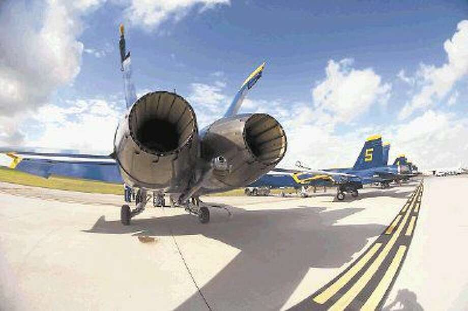The Blue Angels at Ellington Field last year. Photo: KIRK SIDES