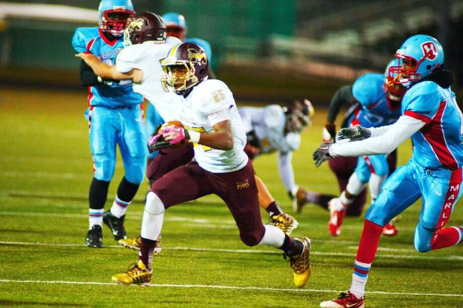 Magnolia West junior running back Aaron Thomas ran the ball 42 times for 207 yards against Madison on Friday.