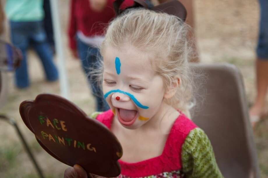 Children of all ages enjoyed getting their faces painted during Pioneer Day. Photo: Submitted Photo