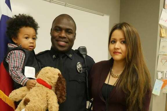 Officer Endy Ekpanya and family.