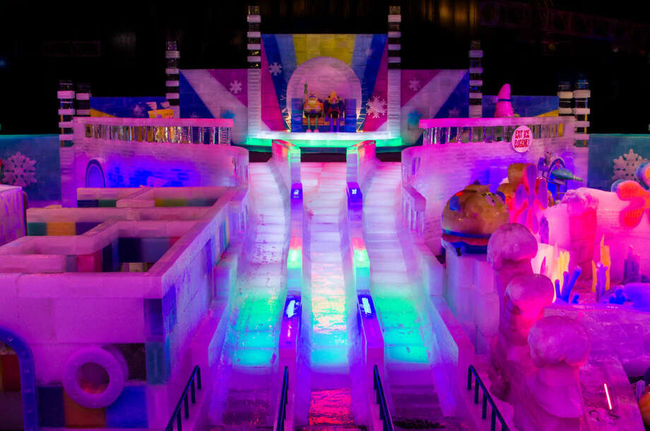 Festival Of Lights Ice Land Exhibit Debuts On Saturday Houston Chronicle