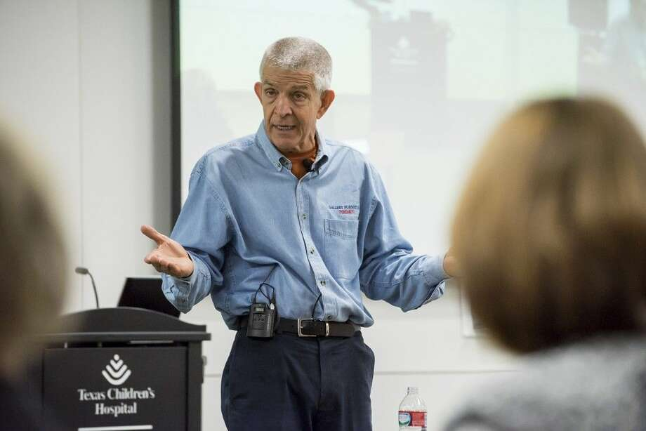 "Jim ""Mattress Mack"" McIngvale speaks to Texas Children's Hospital West Campus Patient Experience Leadership meeting. Photo: Allen Kramer"