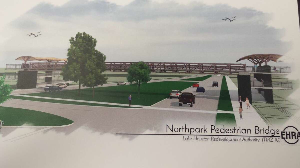 With the proposed widening of Northpark Drive from four lanes to six lanes from Loop 494 to Woodland Hills Drive, the Lake Houston Redevelopment Authority continues to look into the viability of a pedestrian bridge at Glade Valley.