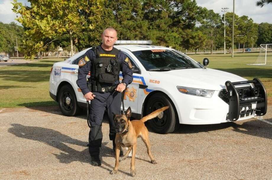 Harris County Sheriff's Office North Patrol District 1 canine (K9) supervisor Sgt. C. Moore and his partner Ziko are credited with apprehending a burglary suspect on Wednesday, June 8. Photo: Submitted