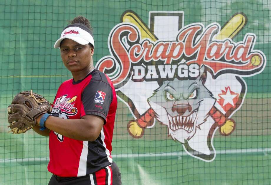 Scrap Yard Dawgs second baseman Nerissa Myers is one of a handful of veteran players on the team.