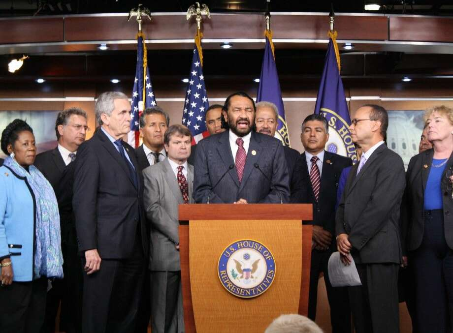 Congressman Al Green calls for reform of our immigration system and relief for millions of families at a press conference on November 13, 2014.