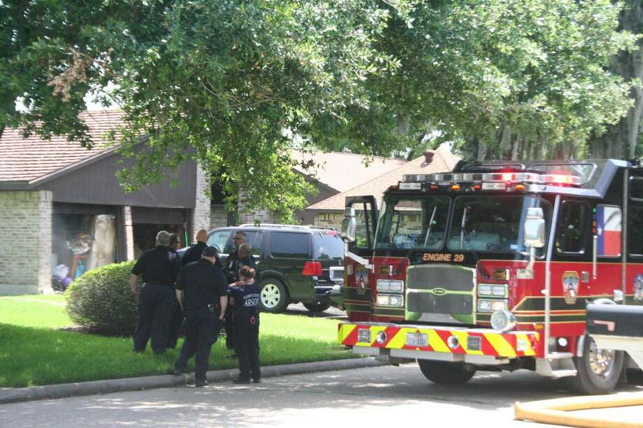 An Atascocita grandfather and granddaughter are expected to be OK after an electrical fire started in their house today in the 4000 block of Wintergreen near Woodland Hills.