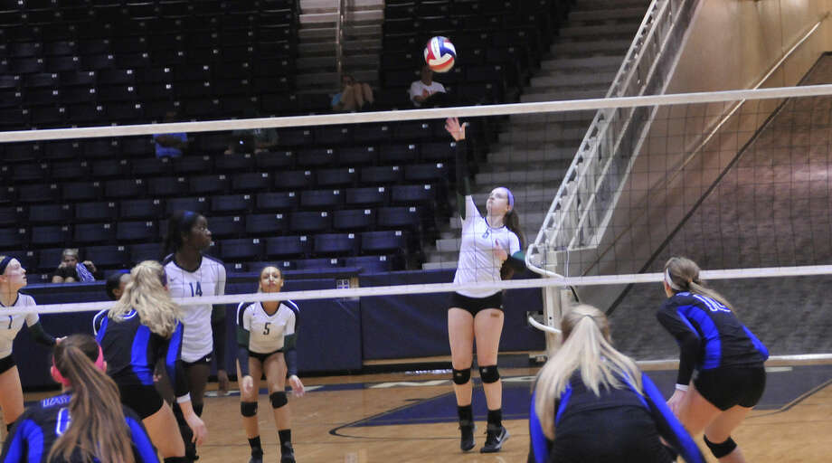 The Cypress Falls High School volleyball team defeated Katy Taylor on Nov. 5 to advance to the Region III-6A quarterfinal on Nov. 10 against Katy Seven Lakes. Photo: Photo By Lexi Shaw / Cypress Falls HS
