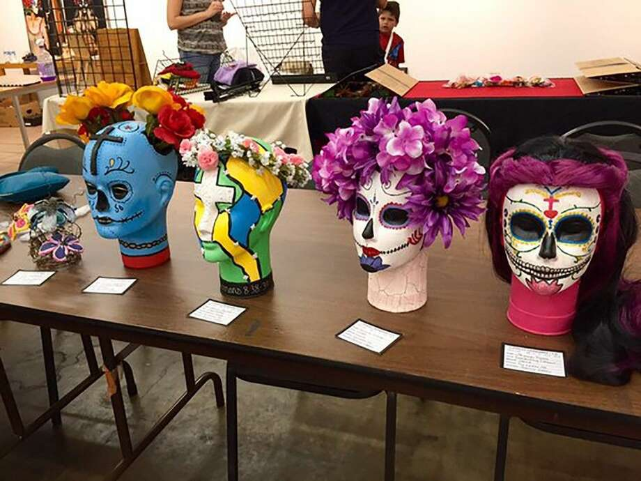 """Cypress Lakes students created this artwork, which has been on display at """"Día de los Muertos in the East End"""" since Oct. 30."""