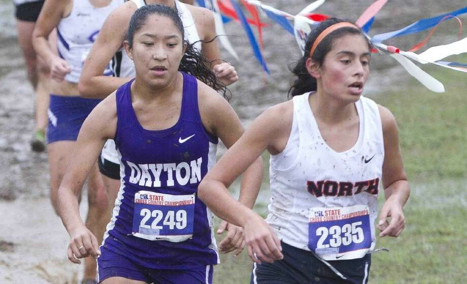 Dayton High School senior Estela Pina ran in the UIL State Cross Country Championship in Round Rock, Texas, Nov. 7, 2015. Photo: Jason Fochtman