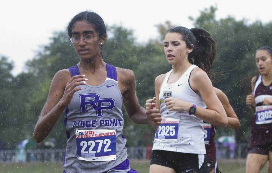 Ridge Point's Sonya Andrews runs during the UIL state cross country championships Nov. 7 at Old Settlers Park in Round Rock. Visit HCNPics.com for more photos. Photo: Jason Focthman