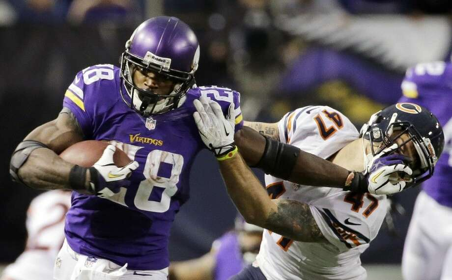The NFL suspended Vikings running back Adrian Peterson without pay for at least the remainder of the season. The league said Peterson will not be considered for reinstatement before April 15 for violating the NFL personal conduct policy.
