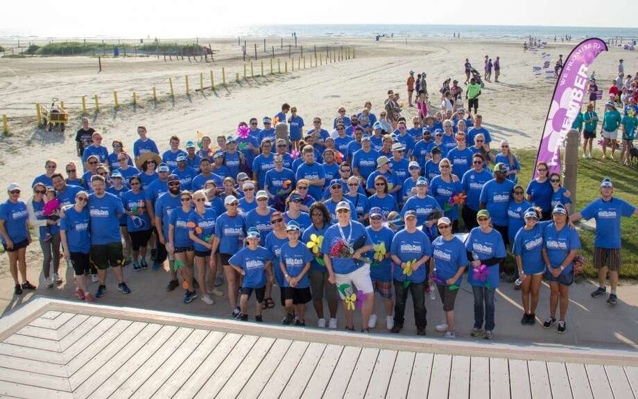 College of the Mainland staff and students united along Stewart Beach during the Galveston County Walk to End Alzheimer's. The college was a champion team and raised $5,000 for the nonprofit.