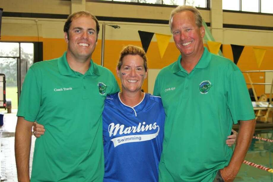 Travis Subda (left), Stacy Bond (former Memorial Northwest Marlins coach) and Kyle Subda (right) Photo: Submitted Photo