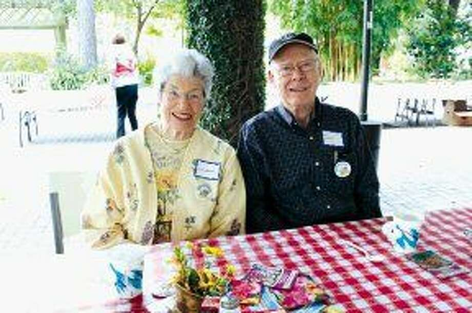 Mercer volunteers Willadene and Don Graves enjoy the appreciation luncheon.