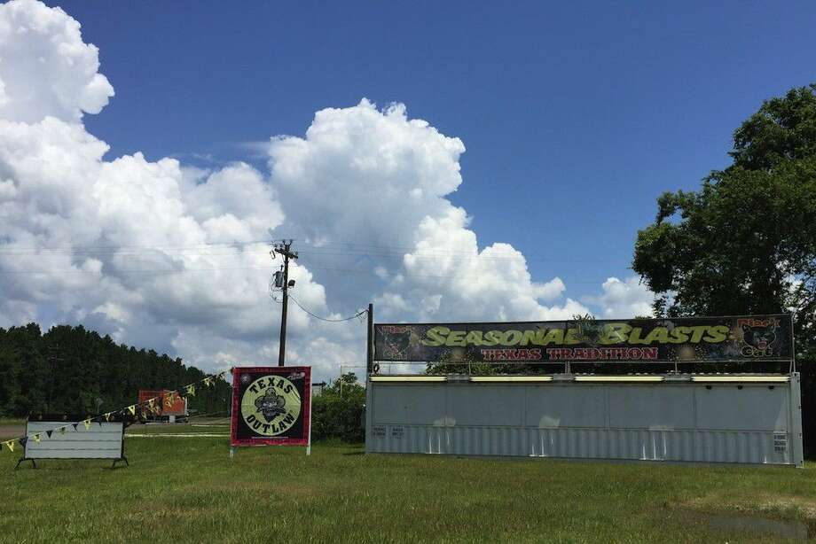 """The Dayton City Council voted to allow the fireworks stand on SH 321 to continue operation even after annexation brings it within the city limits where otherwise it is unlawful to sell fireworks. The stand has operated at that site since 2009 and has been """"grandfathered in"""" under the city ordinance. Photo: Casey Stinnett"""