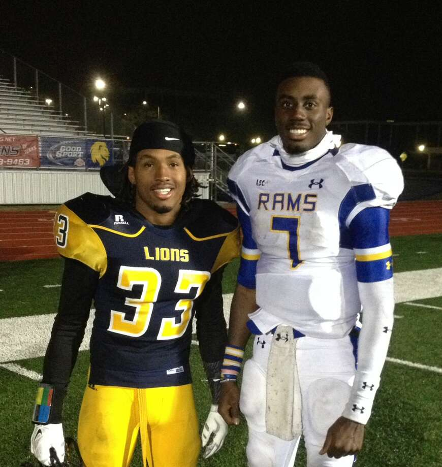 Humble grads Charles Woods and Kyle Washington faced off in the LSC Playoff Championship last week.