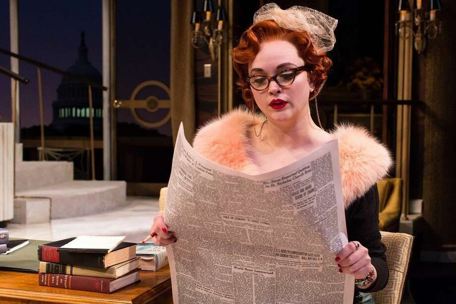 Melissa Pritchett in Born Yesterday. The play runs at the Alley Theatre through July 3. Photo: Courtesy Photo