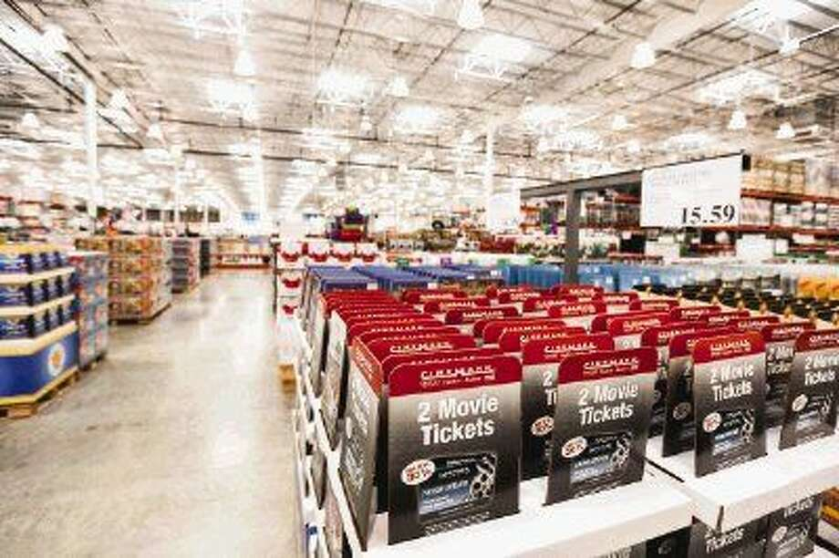 The new Costco at Interstate 45 North and Texas 242 pictured on Tuesday. A preview party with an estimated 4,000 attendees is scheduled for Thursday, the night before the grand opening.