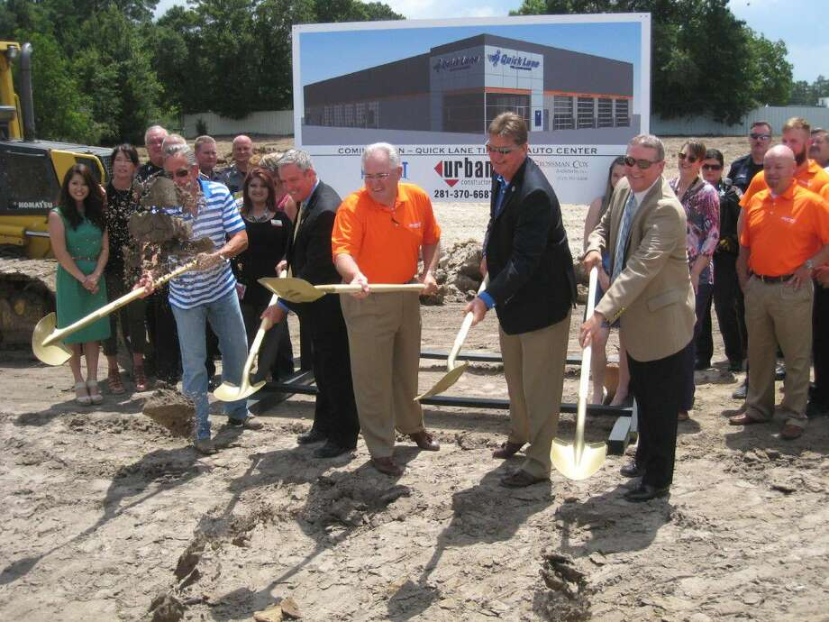 Representatives celebrated the groundbreaking of the new Quick Lane located in Porter Wednesday, June 22, 2016.