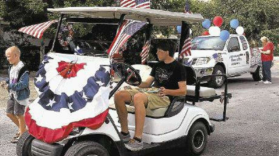 Guests prepare to roll in a past Independence Day parade.