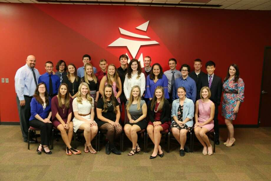 Magnolia ISD Student Leadership with faculty sponsors Jeremy Day, left, and Brittany Marrs. Photo: MISD