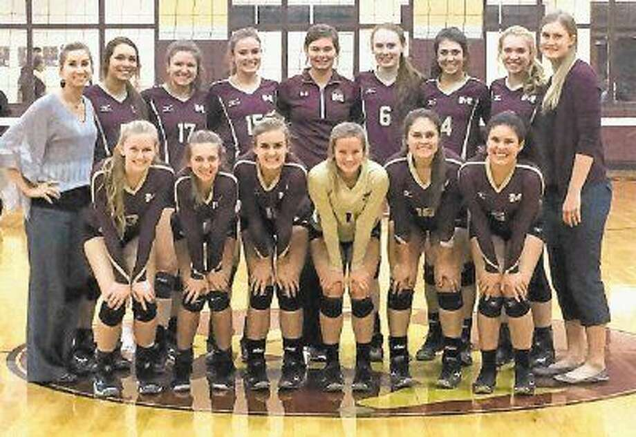 The Magnolia West volleyball team topped Houston Lee in the bi-district playoffs on Tuesday.