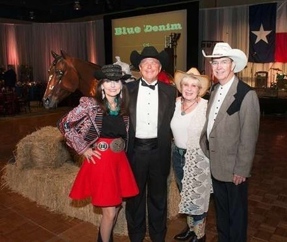 Chairs of the 2015 Jeans & Jewels Gala were Brenda Anderson, left, pictured with her husband, Paul, and Peggy Jo Coker, with her husband, Elbert. The event is the largest annual fundraiser for Northwest Assistance Ministries. Photo: Submitted