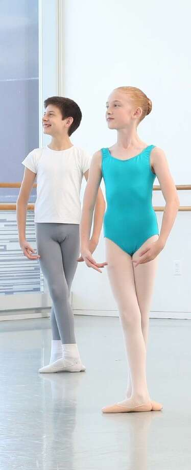 Paige Marshall, front, with Nico Gongora, both of whom appeared in The Nutcracker. Photo: Compliments Of Houston Ballet