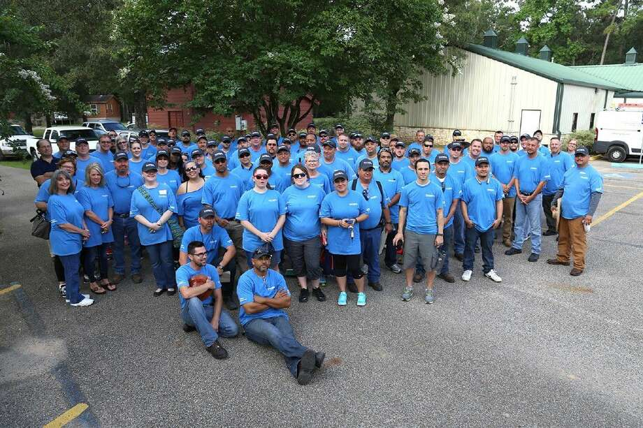Convergint Technologies volunteers recently provided a full day of service, referred to as Convergint Day, at Freedom Place. Photo: Arrow Child & Family Ministries