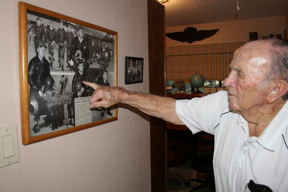 Pat Lewis of Coldspring flew 25 bombing missions in Europe during World War II. He later volunteered to fly B-29s in the war against Japan. Photo: Vanesa Brashier