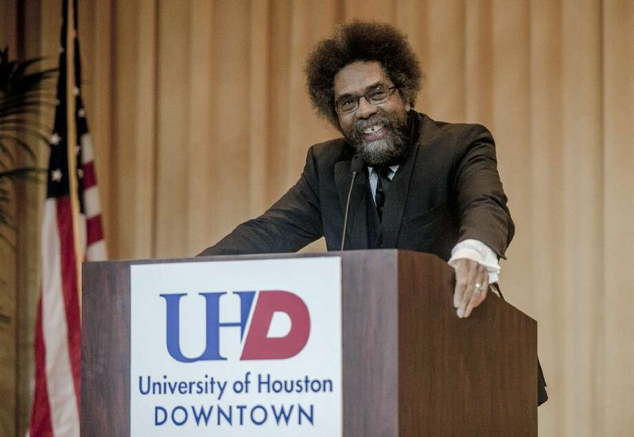 Professor, author and civil rights activist Dr. Cornel West visited the University of Houston-Downtown (UHD) Friday, Nov. 6, to deliver a program focused on social justice. An audience of more than 600 attended from across the city. Photo: John Everett