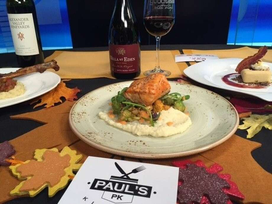 Executive Chef Paul Lewis's Pan Seared Salmon with its cauliflower puree and smoked tomato butter is wonderful. Photo: Courtesy Photo